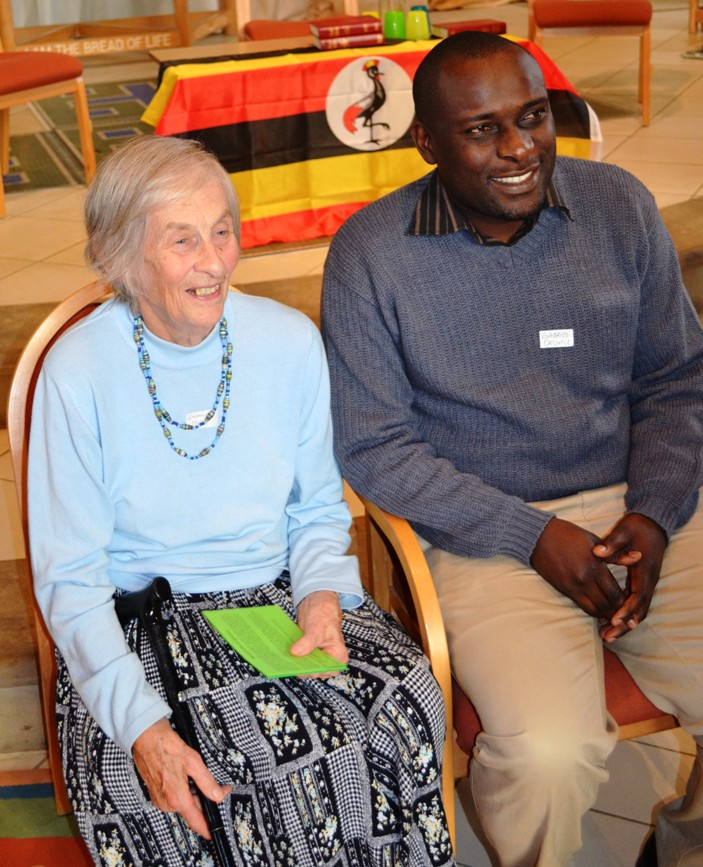 Doreen Sharp with Dr. Gabriel