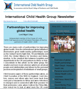ICHG news winter 2013 front cover