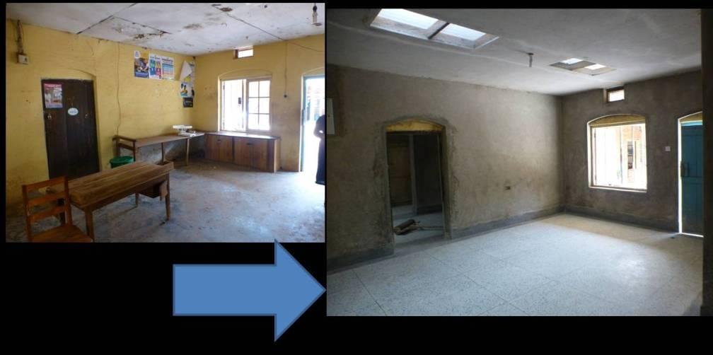 central room floor transformed